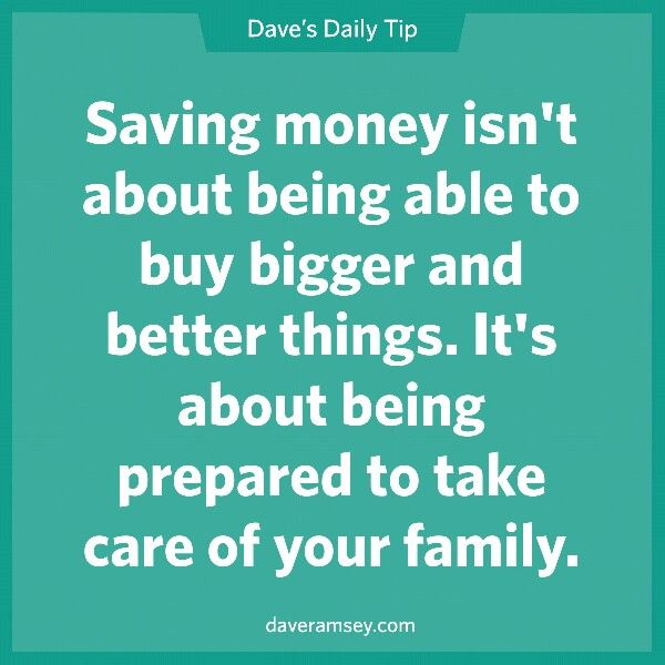 I want to finish saving for our family's 3-6 month emergency fund, so we can be one step closer to financial peace.