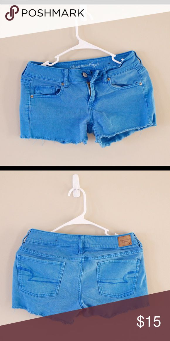 AE shorts American eagle cut off shorts, intentional fraying. 98% cotton 2% spandex American Eagle Outfitters Shorts