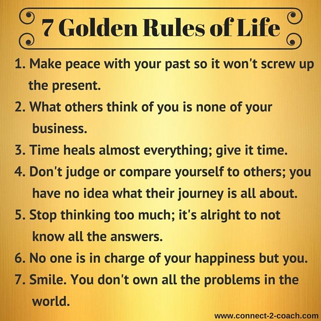 Inspirational Quotes On Life: Simple. Practical. True.These 7 'Golden Rules Of Life' Are