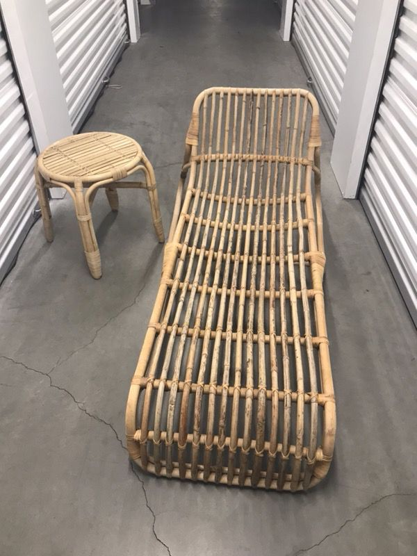 Brand New Ikea Rattan Lounger Chaise With Matching Side Table Furniture In San Go Ca Offerup