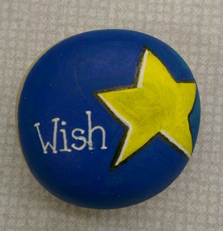Wish Upon A Star Painted Rock