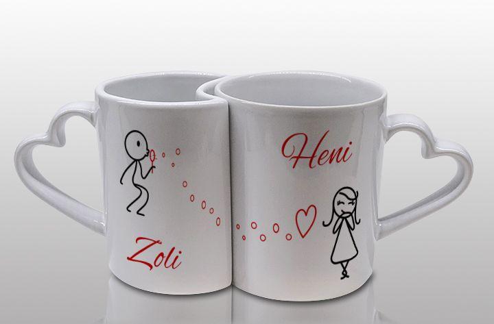 Páros bögre szerelmeseknek egyedi nevekkel 1. - Ajándékot keres kedvesének? Romantikus és kedves ajándékra talált! Lepje meg szerelmét az egyedi nevekkel feliratozott páros bögrével, melyeket egy kedves grafika díszít. Ezzel az ajándékkal biztosan boldoggá teszi Őt! - Egyedi fényképes ajándékok webáruháza - www.kepesajandekom.hu