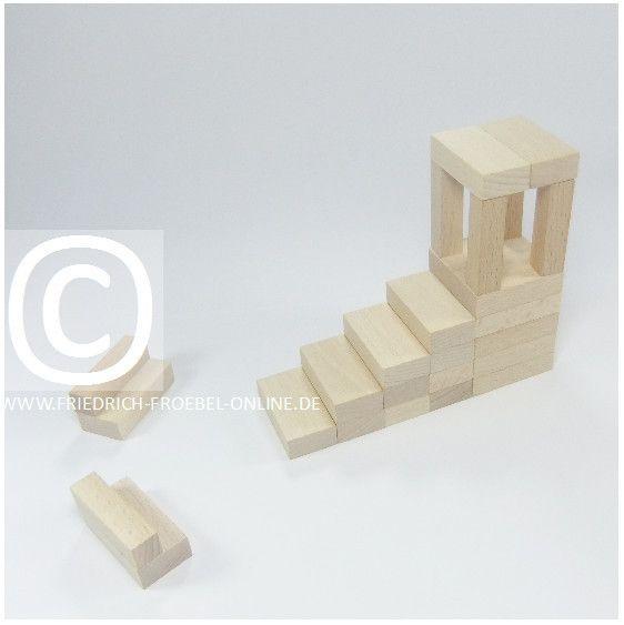 Lebensform (nach Marenholtz-Bülow) mit den Holzbausteinen der Spielgabe 6 nach Froebel -> Gartenhaus