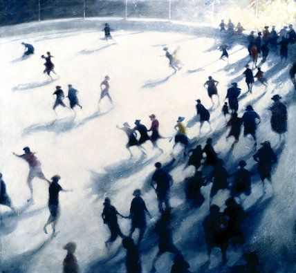 Bespoke prints on demand from the RA Collections: The Rink, 3pm Bill Jacklin, R.A. © Royal Academy of Arts, London
