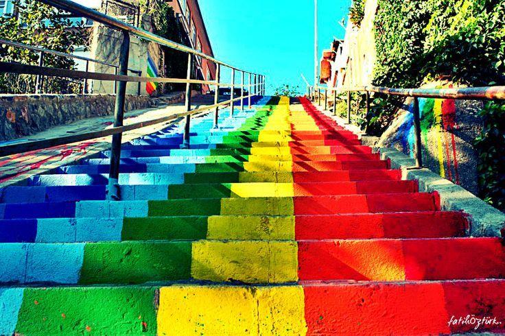 renkli merdivenler