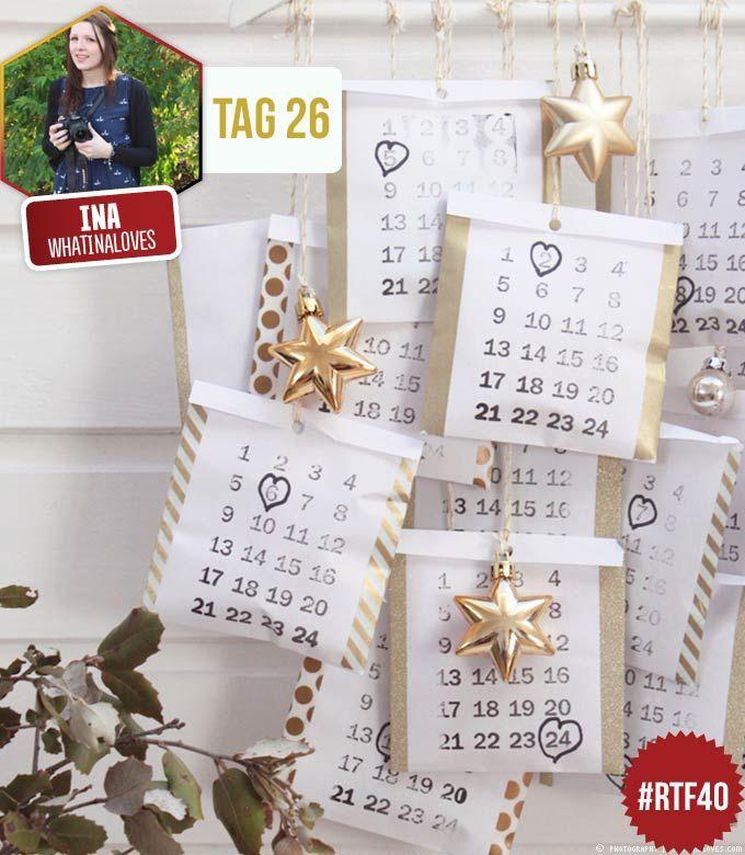 Warum ein Adventskalender kaufen, wenn man Adventskalender ganz einfach selber machen kann! Anleitung für einen Adventskalender gibt's hier.