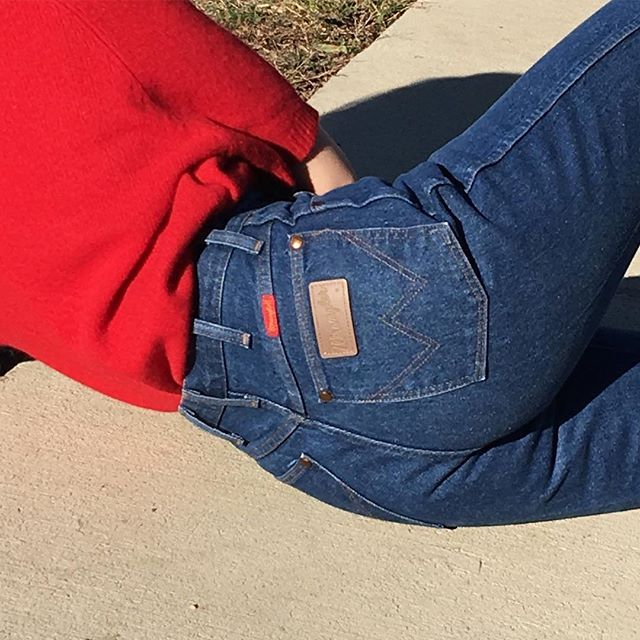 """Please DM email to purchase. Vintage amazing wrangler denim jeans. Best fits 26"""" waist. $64 + shipping. SOLD"""