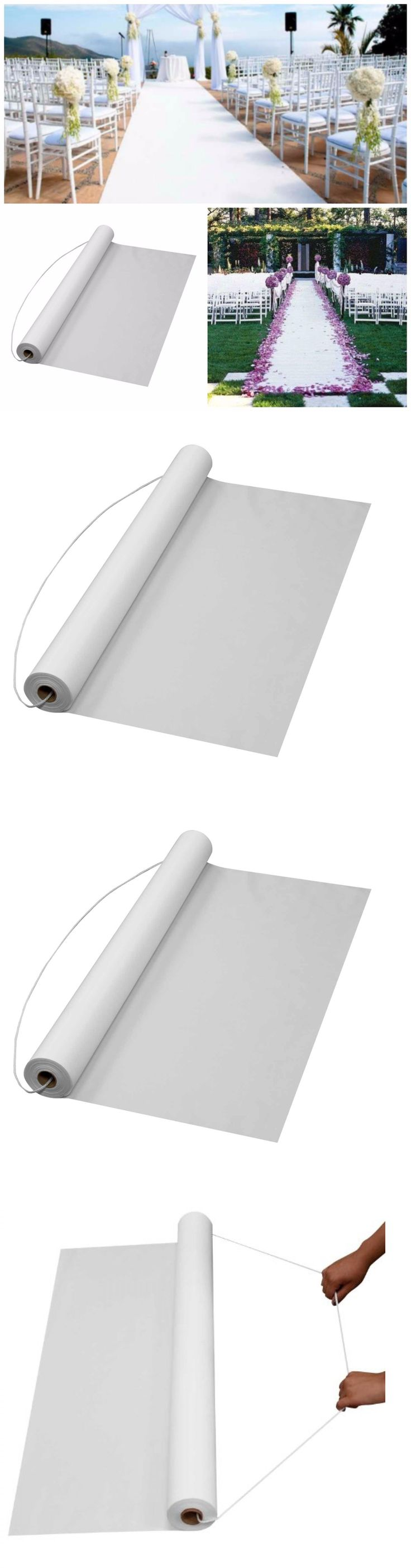 Aisle Runners 102423: White Aisle Runner Wedding Carpet Roll Indoor Outdoor Plastic Wedding Supplies -> BUY IT NOW ONLY: $30.35 on eBay!