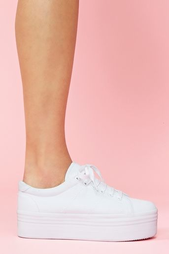 Zomg Platform Sneaker in White old...taking me back to the 90's  Baby Spice from the Spice Girls lol.