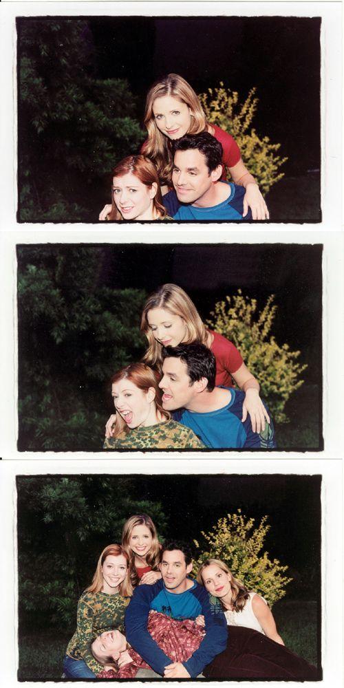 Behind the scenes, Buffy, Sarah Michelle Gellar, Alyson Hannigan, Nicholas Brendan, Amber Benson and Emma Caulfield