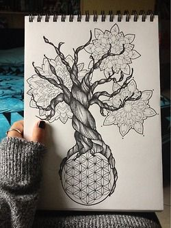 drawing Illustration art tree Black and White Italy ink Sketch doodle drawings geometric geometry mandala dot doodling flower of life sacred geometry dot work mandalas black pen tree drawing mandala drawing doodls steadtler fiore della vita disegno albero