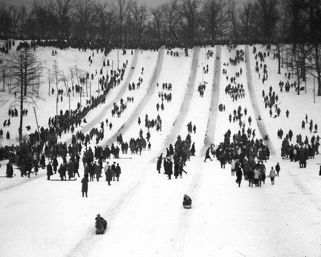Tobogganing/Snow in general (High Park Toboggan Runs, 1914, City of Toronto Archives, Fonds 1244, Item 441A)