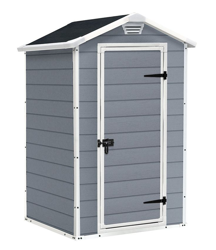 Keter Manor Outdoor Plastic Garden Storage Shed, 4 x 3 feet - Grey £199.00 #allotment #shed #grey #plot #garden #storage