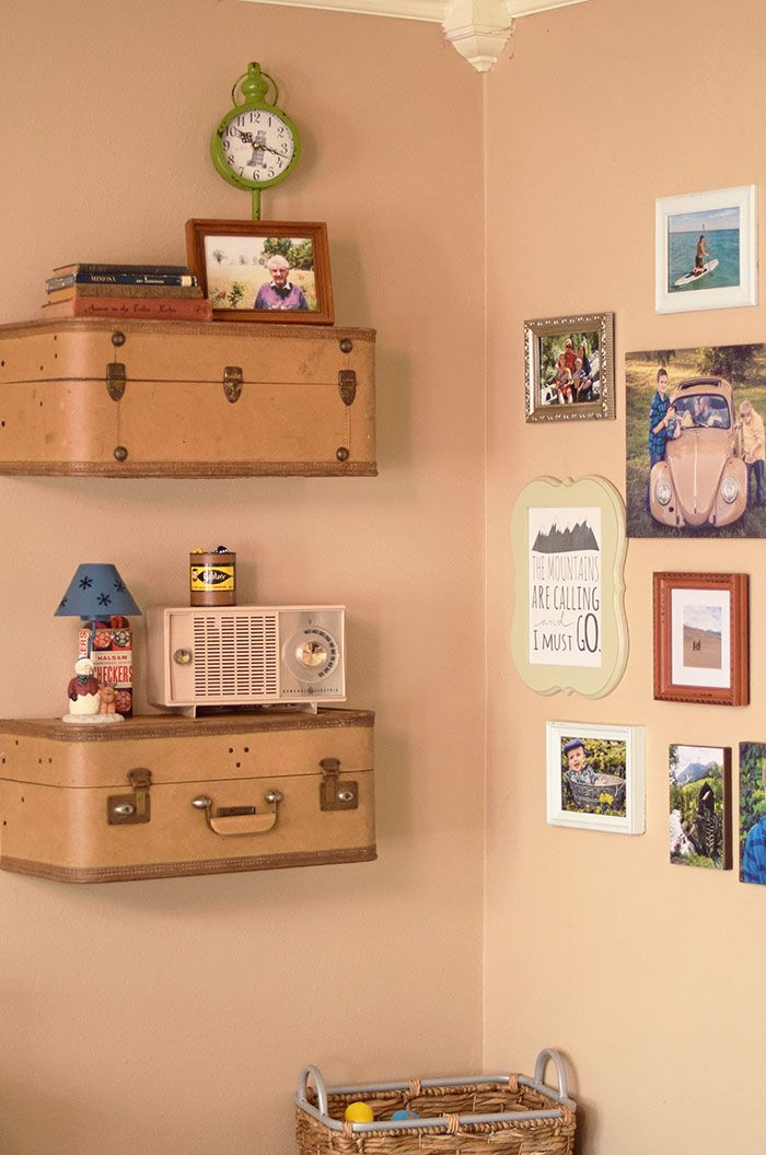 6 Ideas On How To Display Your Home Accessories: Best 25+ Suitcase Shelves Ideas On Pinterest