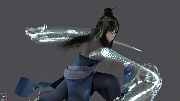 Beauty Renders of Ming Hua. I used a pose from   Book 3 episode 8 of Legend of Korra as reference.
