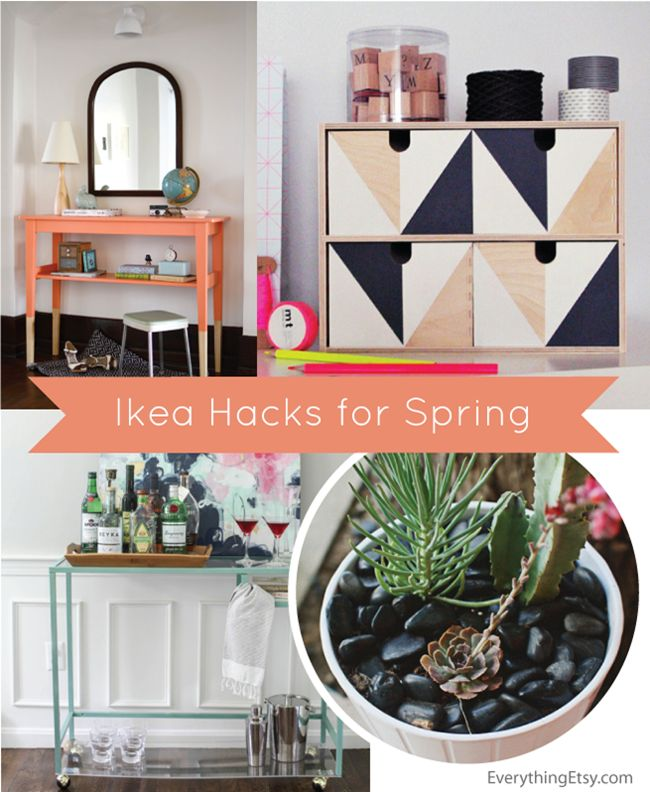 Ikea Hacks for Spring - EverythingEtsy.com #Ikea #hacks #DIYIkea Ideas, Ikeahack Ikea, Decor Ideas, Hacks Diy, Ikea Diy, Ikea Hacks For Spr, Everythingetsy Com Ikeahack, Spring, Crafts