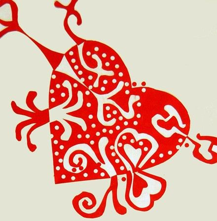 Valentine Hearts - Positive & Negative Space...Notan