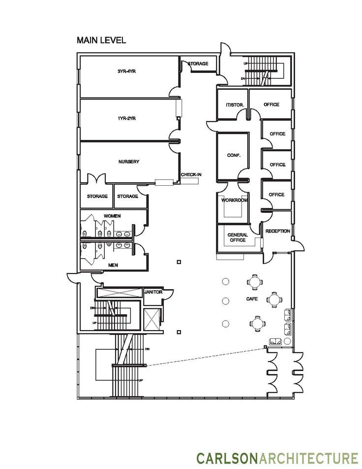 Church Building Plan With Lobby Church Offices And