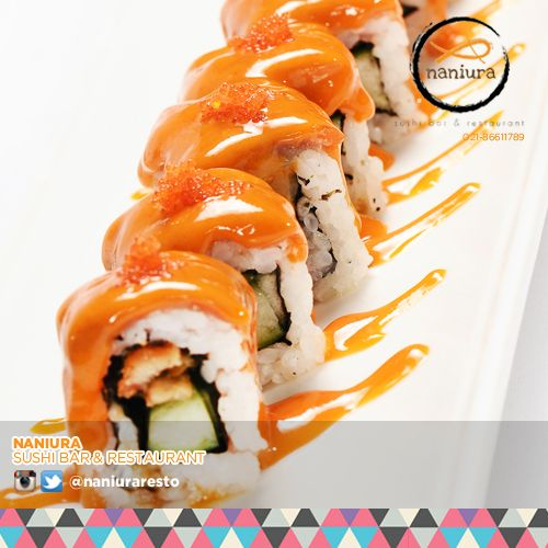 #FireRoll Will make you on fire! Lets order: Naniura Sushibar Restaurant Jakarta Timur 021-86611789 || Tag ur reviews #NaniuraSushi #Sushi #FoodPorn #SushiLover #SushiResto #SushiRoll