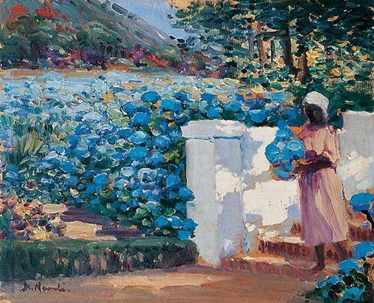 'On the steps, Groote Schuur' - Hugo Naudé (1868–1941)