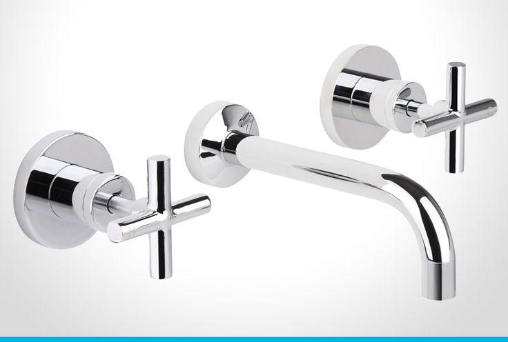 Resonance chrome cross handle bath set