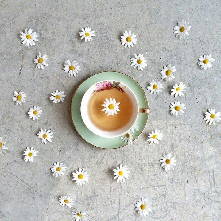 Flowers, coffee