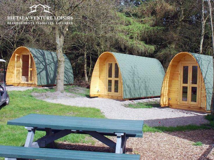 "#POD ""Camping"" 3,0 m / 5,1 m² - #hébergement #insolite hietala-aventure-loisirs"