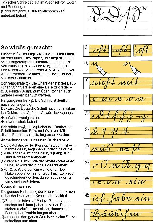 Kurrent -- German cursive was different from other continental cursives of the 19th C., deriving from the Fraktur typefaces and Blackletter. This (I think) gives the practice strokes that are the building blocks of learning the penmanship.
