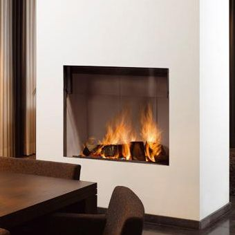 Barbas Escamolux 80/65 Wood Burning Built-In Stove - Flat Sliding Door