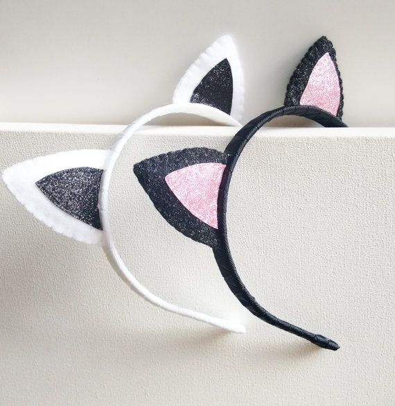 Cat ears Cat ears headband Cat costume by Graciosa on Etsy