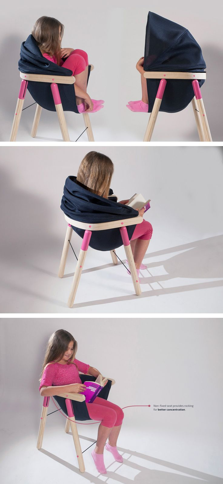 Croatian designer Dorja Benussi has created the Soothing Chair, as part of her Sensorimotor Educational Equipment project.
