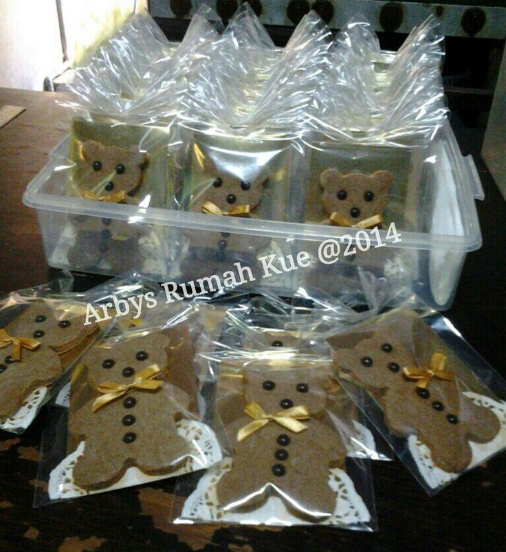 Teddy bear chocolate cookies