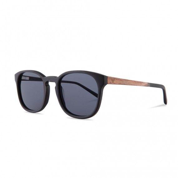 holzbrille alfons matt black / ebony seite