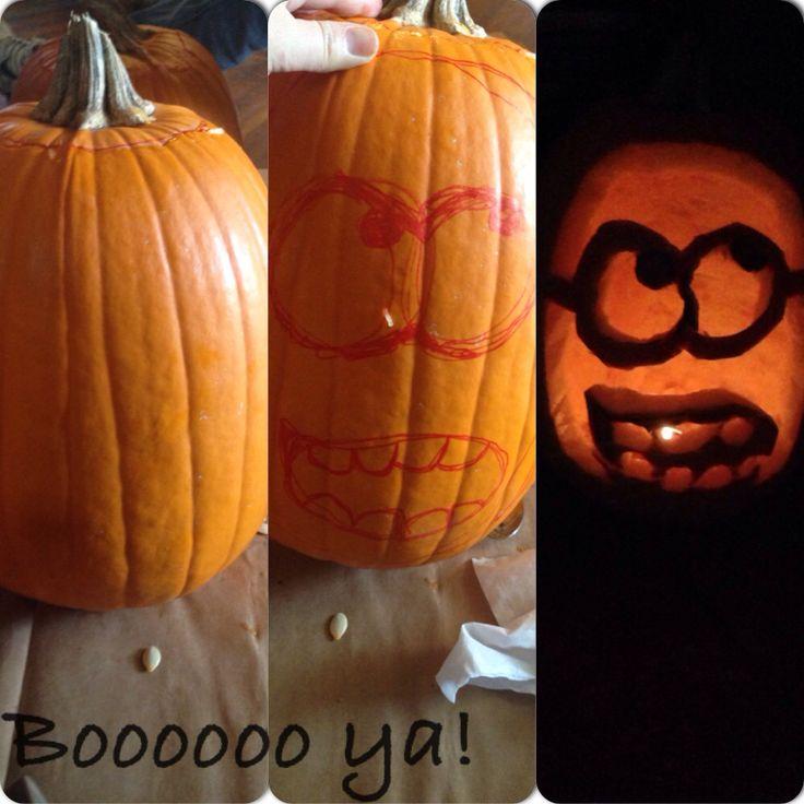 Pumpkin carving minion