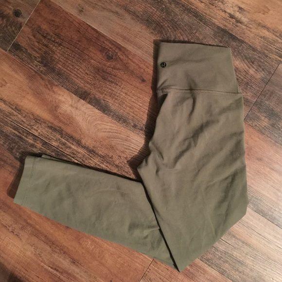 Lululemon Olive Pants Lululemon Olive Wonder Under Pants.  Good condition.  No pilling. lululemon athletica Pants Leggings