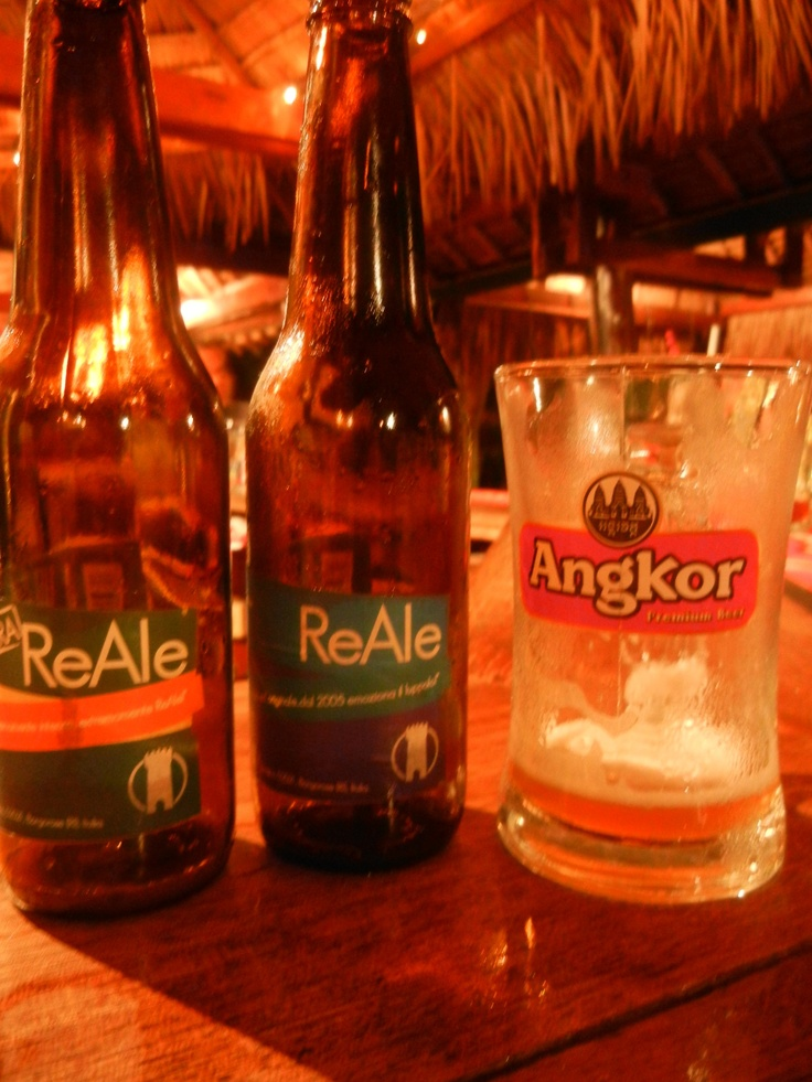 We shared a couple of our beers with new cambodian friends in Sianoukville, South Cambodia