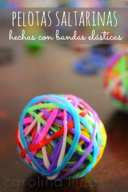 Pelotas saltarinas hechas con bandas elásticas | #Artividades
