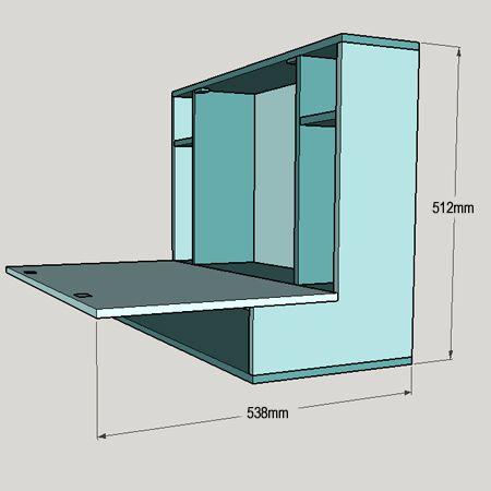 HOME DZINE Home DIY | Drop-leaf desk for home office or child's study desk