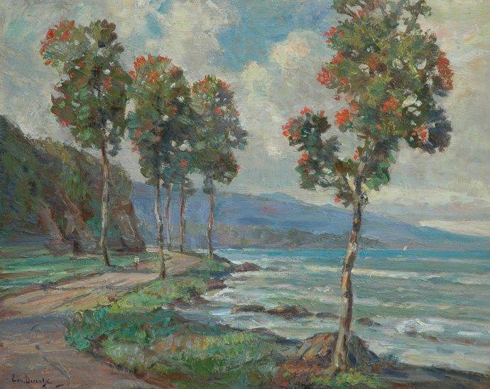 Ernest Dezentjé (Jatinegara (Nederlands-Indië) 1884-1972 Jakarta (Indonesië)) Bomen langs de Indonesische kust