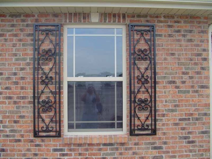 Decorative shutters wrought iron home pinterest - Decorative window shutters exterior ...