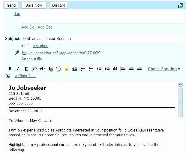 Email Resume Cover Letter Brilliantdesignsin3d In 2020 Cover Letter For Resume Resume Email Templates
