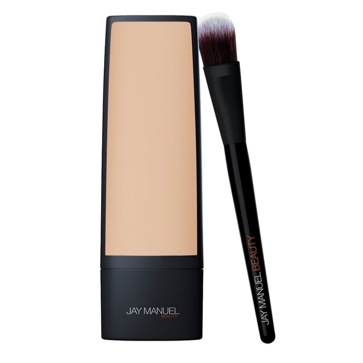 231287 - Jay Manuel Beauty Skin Perfector Foundation & Brush  QVC Price: £48.50   Feature Price: £43.48 + P&P: £3.95 or 2 Easy Pays of £21.74 +P&P in 11 of 12 options The Skin Perfector Foundation from Jay Manuel Beauty is a silicon-based liquid foundation designed to give medium to full, buildable coverage while hydrating and priming the feel of your skin. Complete with a flat, tapered Foundation Brush featuring round-tipped synthetic bristles for precise application, achieve a…