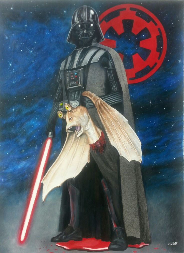 Darth Vader commission. Prismacolor on canson paper 18X24. Artist Tim Scott