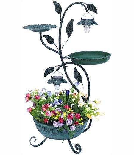 Pflanzenständer Mit Solar Beleuchtung,1 Stück