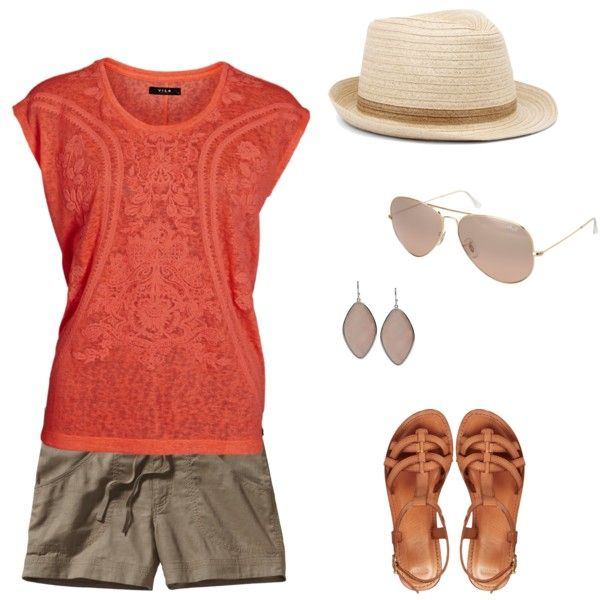 Walking, theme park, festival summer outfit