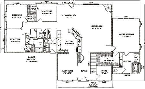 Cottonwood by Wardcraft Homes Ranch Floorplan