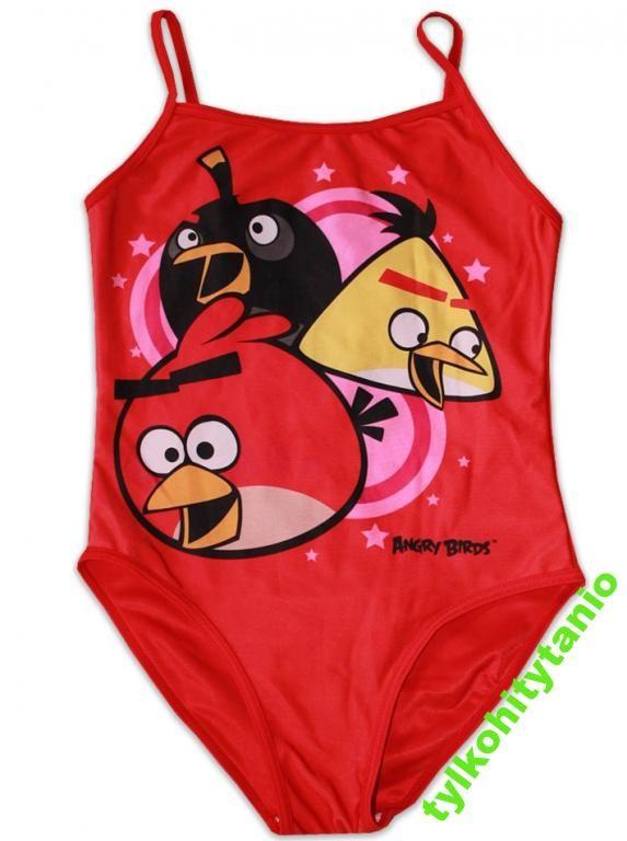 Angry Birds 9/10 lat strój kąpielowy 134/140 cm