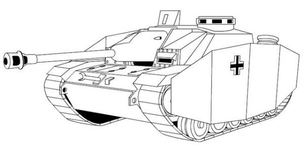 Tank Coloring Pages Printable Background