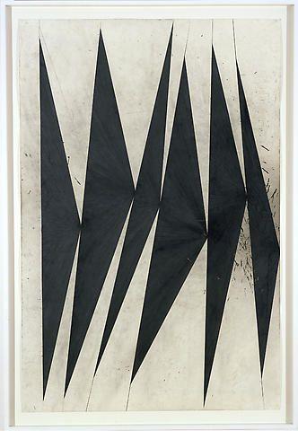 MARK GROTJAHN Untitled (Dancing Black Butterflies) (panel 8 of 9), 2007 Color pencil on paper