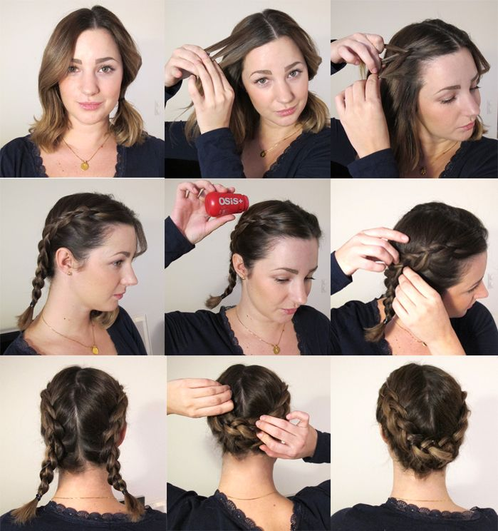 Håruppsättning för kort hår